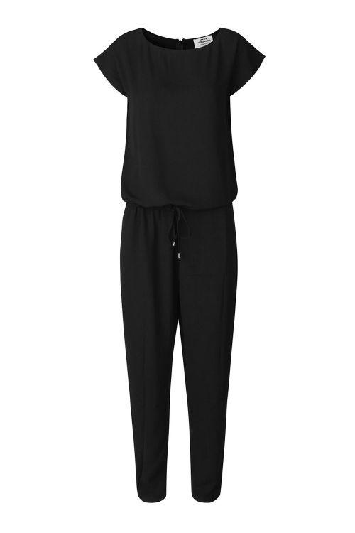 Mads Nørgaard Jumpsuit Crepe Georgette Cavi Plisse Black Front