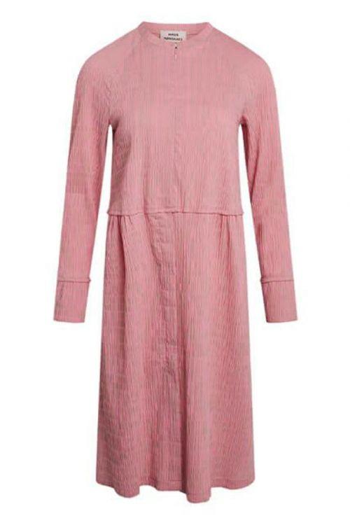 Mads Nørgaard - Kjole - Crinckle Pop Dupina Dress - Multi Strawberry Pink