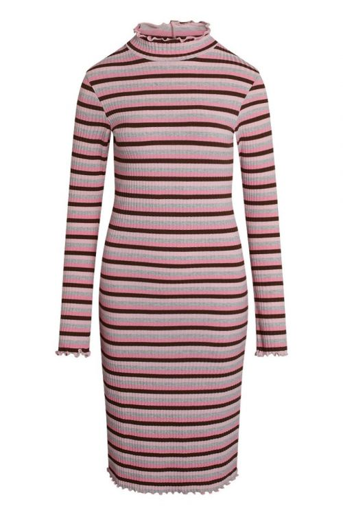 Mads Nørgaard - Kjole - Super Stripe Starina Dress - Multi Candy Pink