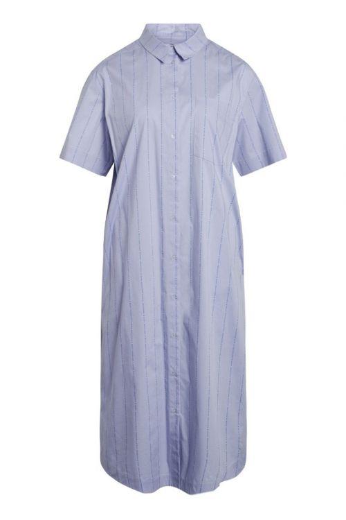 Mads Nørgaard - Skjorte - Logo Poplin Dylan - Multi Brunnera Blue