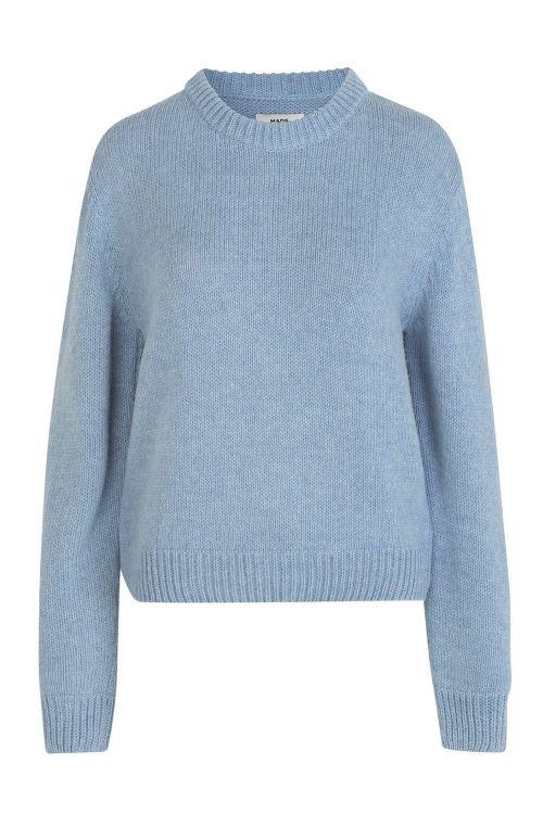 Mads Nørgaard Strik Recycled Wool Mix Kaily Light Blue Melange Front