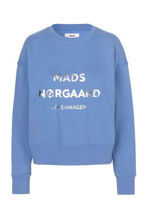 Mads Nørgaard Sweat Organic Sweat Tilvina P Blue Violette Front1
