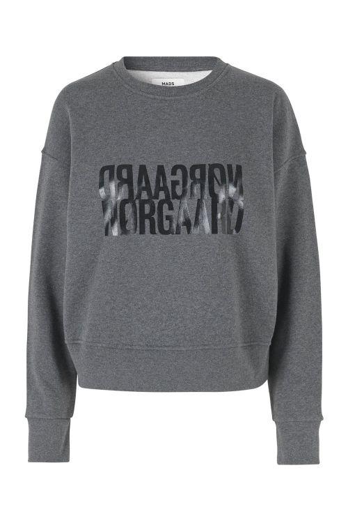Mads Nørgaard Sweat Organic Sweat Tilvina P Dark Grey Melange Front1