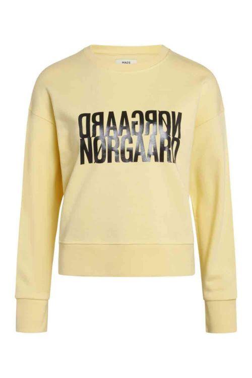 Mads Nørgaard Sweat Organic Sweat Tilvina Pale Banana Front