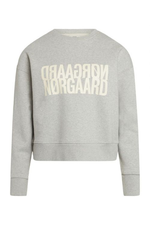 Mads Nørgaard Sweat Tilvina P Light Grey Melange Front