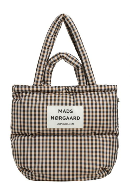 Mads Nørgaard - Taske - Check Club Pillow - Black/Beige