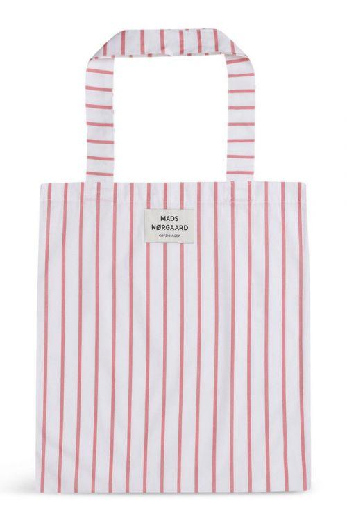 Mads Nørgaard - Taske - Sacky Atoma Bag - Strawberry Pink/White