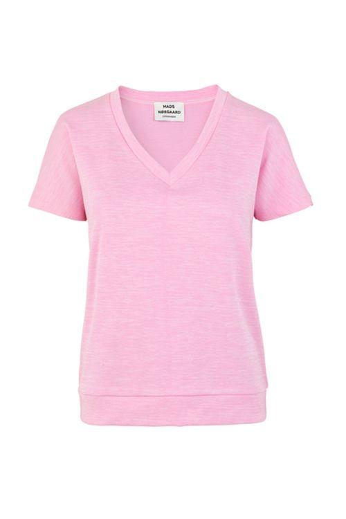 Mads Nørgaard T-shirt Raw Melange Tikka Pink Melange Front