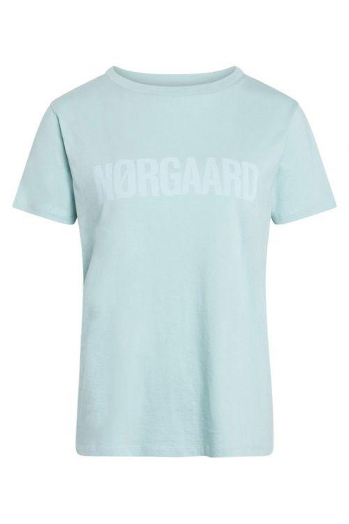 Mads Nørgaard - T-shirts - Single Organic Trenda P - Aqua