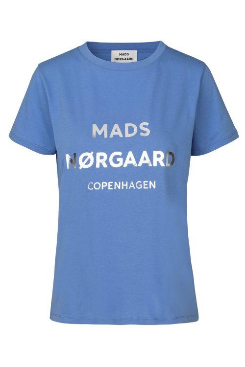 Mads Nørgaard T-shirt Single Organic Trenda P Blue Violette Front1