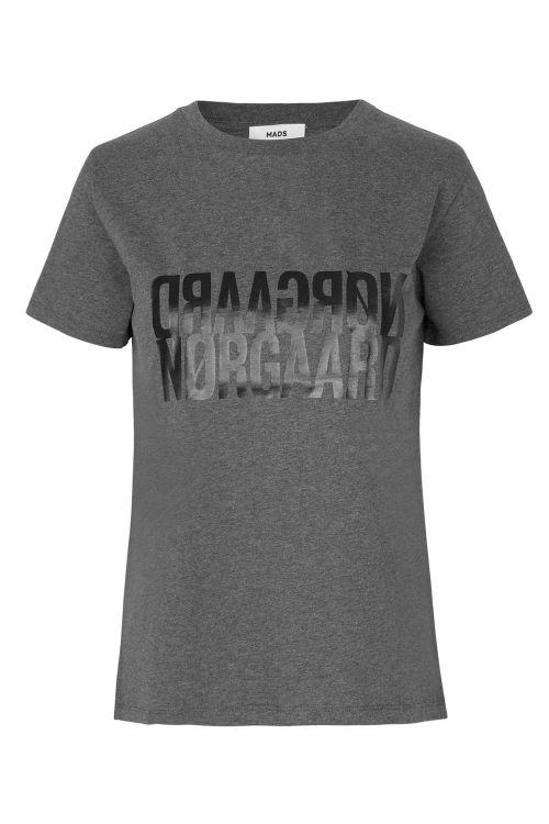 Mads Nørgaard T-shirt Single Organic Trenda P Dark Grey Melange Front