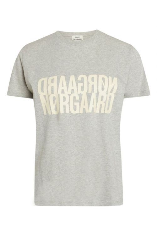Mads Nørgaard - T-Shirt - Single Organic Trenda P - Light Grey Melange