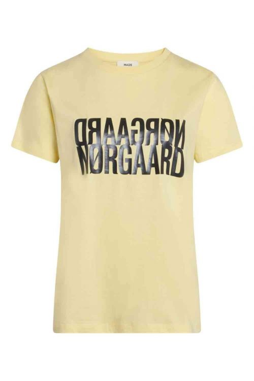 Mads Nørgaard - T-shirt - Single Organic Trenda - Pale Banana