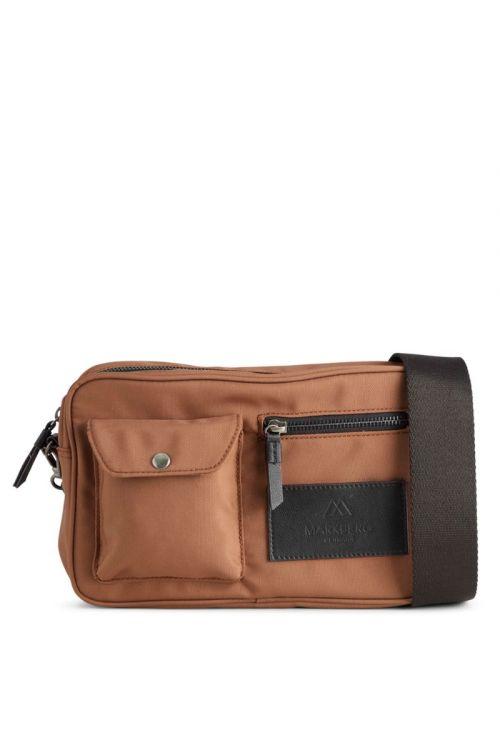 Markberg - Taske - Darla Cross Bag Recycled - Chestnut w/Black