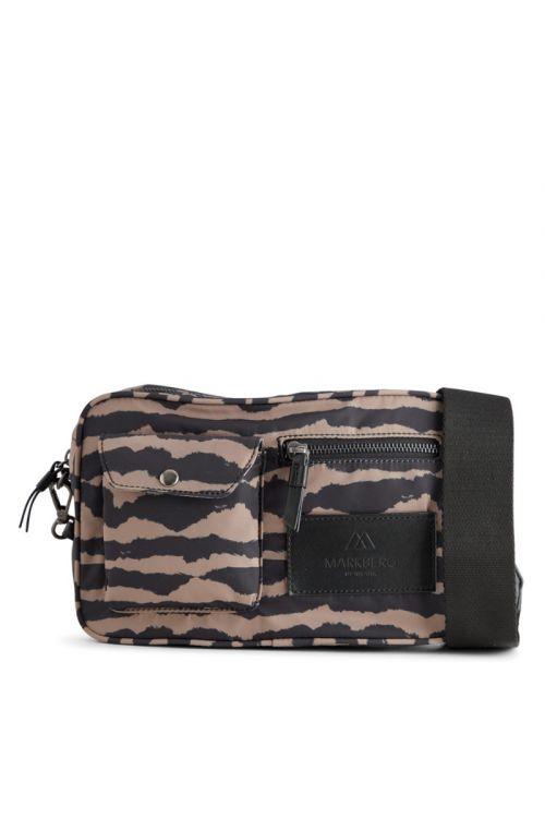 Markberg - Taske - Darla Crossbody Bag Recycled Blurry - Lines w/Black
