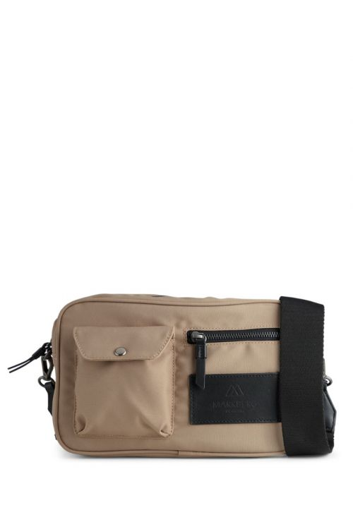 Markberg - Taske - Darla Crossbody Bag Recycled - Taupe w/Black