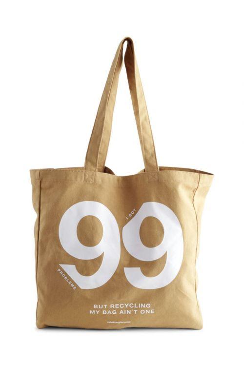 Markberg - Taske - Isidora - 99 Problems Shopper - Mustard w/White Print