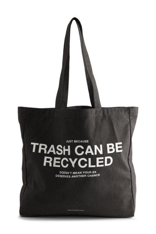 Markberg - Taske - Isidora - Trash Shopper - Black w/White Print