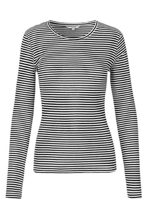 MbyM Bluse Lilita Black Sugar Stripe Front