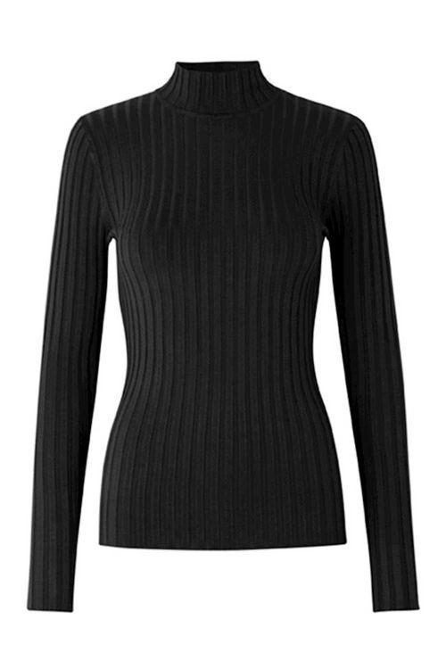 mbyM Bluse Magen Minno Knit Black Front