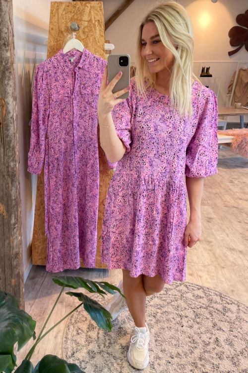 MbyM Kjole Reya Dress Claudina Begonia Print Hover