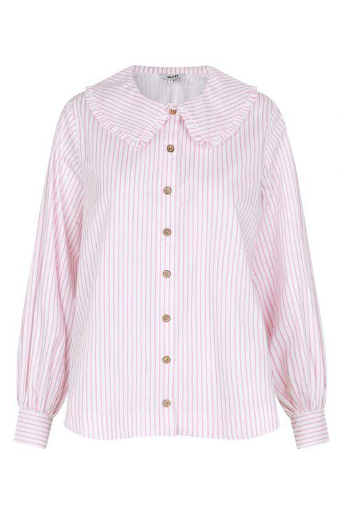 MbyM - Skjorte - Torill Begonia - White Stripe