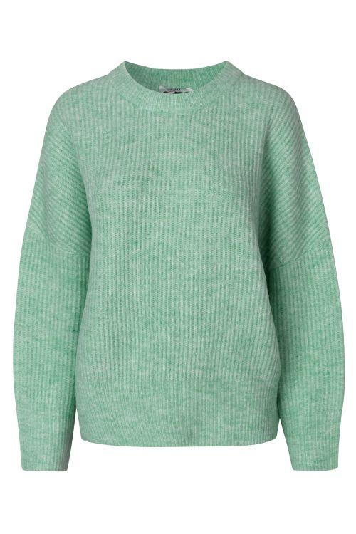 mbyM Strik Gillian Knit Dusty Turquoise Melange Front