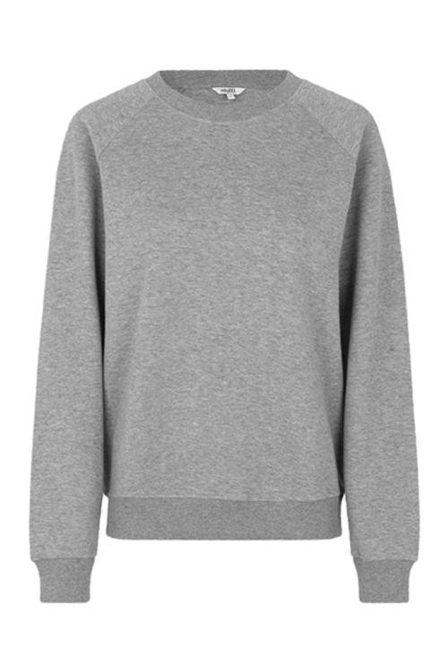 mbyM Sweatshirt Myrah Jess Top Light Grey Melange Front