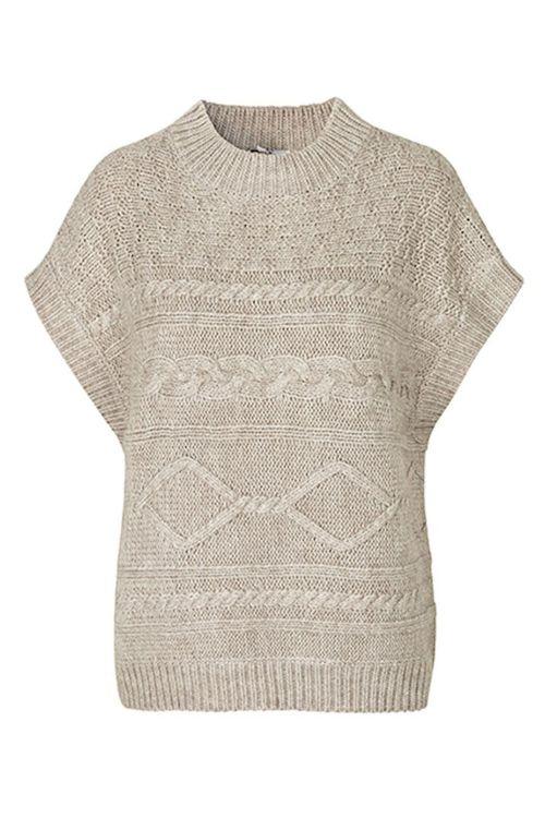 mbyM Vest Bernadette Gamimi Knit Oyster Melange Front