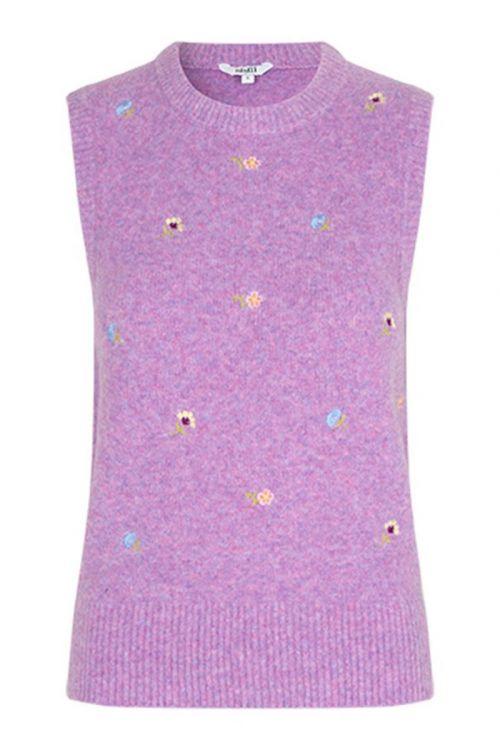 MbyM - Vest - Fredrika Embroidery - Violet Tulle Melange