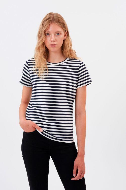 Minimum  T-shirt  Gabriella  Navy Blazer Front