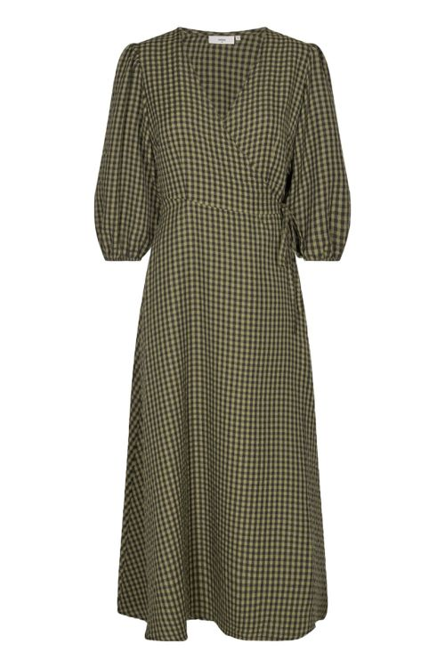 Minimum Kjole Elmina Dress Dark Olive Front