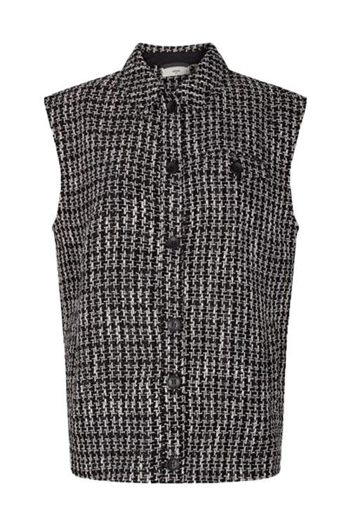 Minimum Vest Metana Waistcoast Black Front1