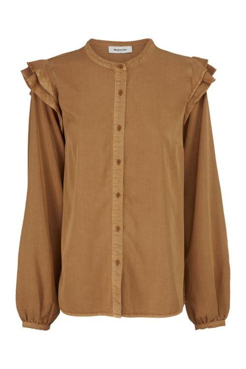 Modström Bluse Henry Shirt Brown Oak Front