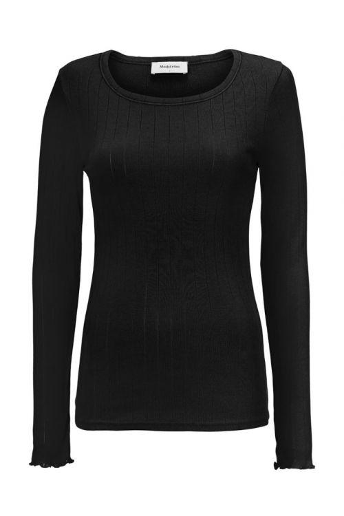 Modström - Bluse - Issy LS T-shirt - Black