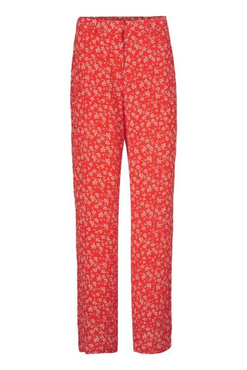 Modström Bukser Lotte Print Pants Cherry Blossom Front