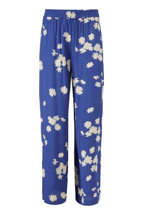 Modström - Bukser - Mina Print Pants - Wind Flower Blue