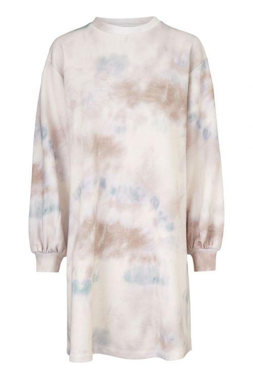 Modström - Kjole - Holly Print Dress - Sage Tie Dye