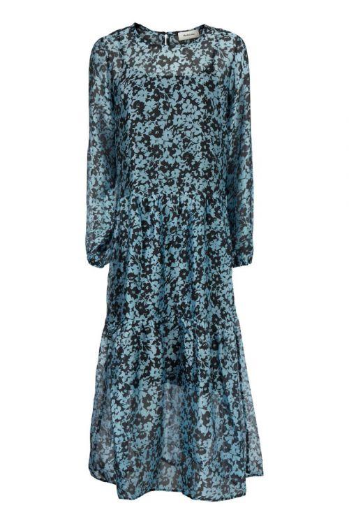 Modström Kjole Honny Print Dress Buttercup Blue Front