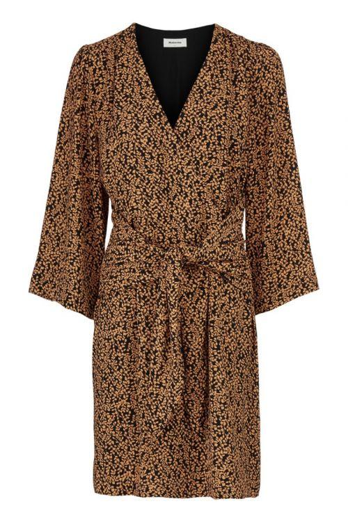 Modström - Kjole - Isabella Print Dress - Apricot Leaf
