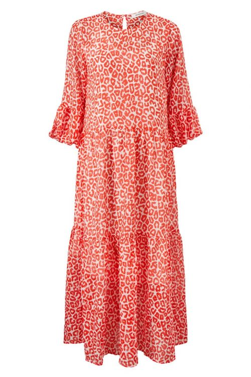 Modström Kjole Lana Print Dress Fire Leo Front