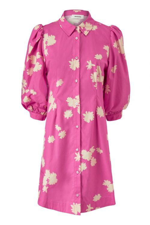 Modström Kjole Milan Print Dress Wind Flower Pink Front
