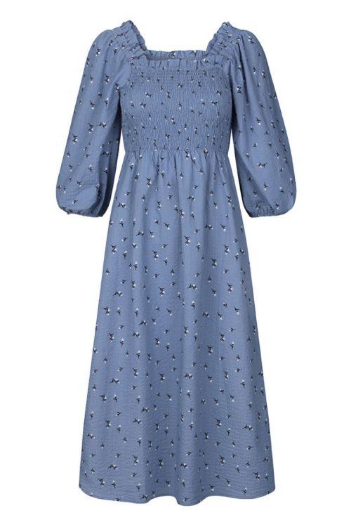 Modström - Kjole - Tinne Print Dress - Blue Mist Bloom