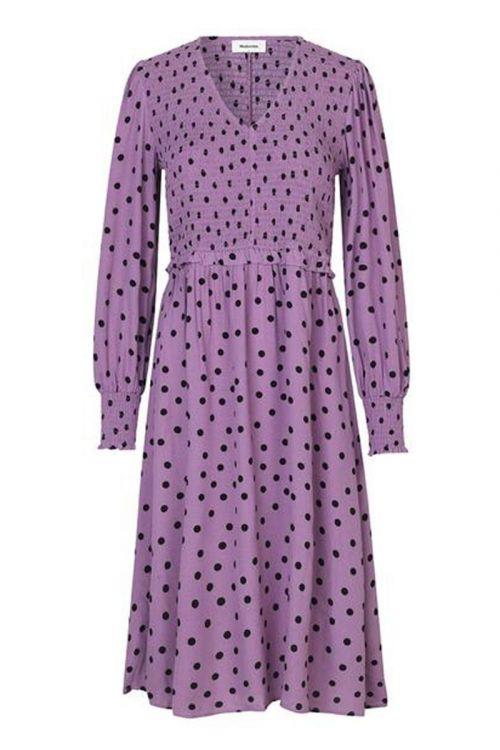 Modström - Kjole - Tomme Print Dress - Bold Dot Valerian