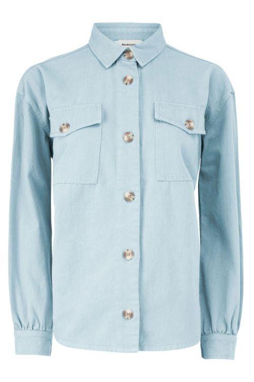 Modström Skjorte Catalina Shirt Chambray Blue Front