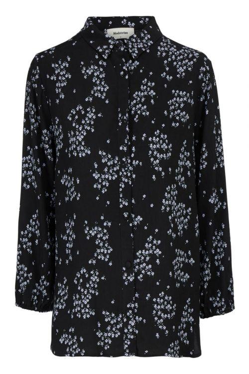 Modström Skjorte Hunch Print Shirt Flower Pond Front