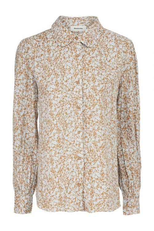 Modström - Skjorte - Isa Print Shirt - Bluebell