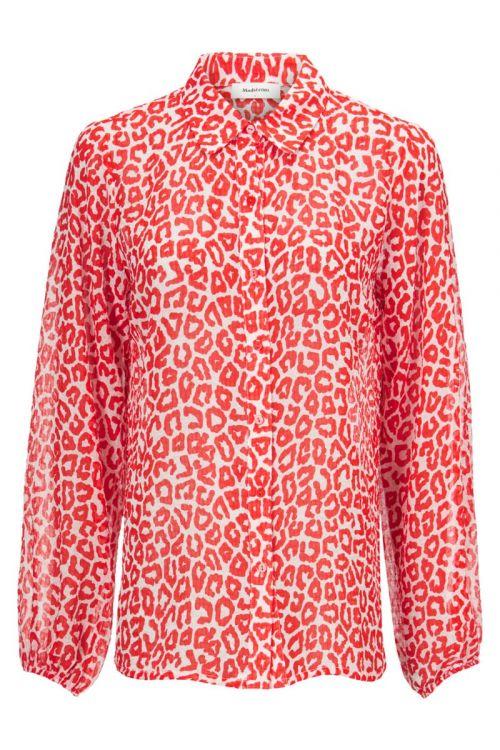 Modström Skjorte Lana Print Shirt Fire Leo Front