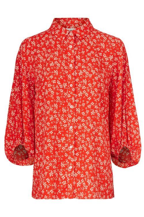 Modström Skjorte Lotte Print Shirt Cherry Blossom Front