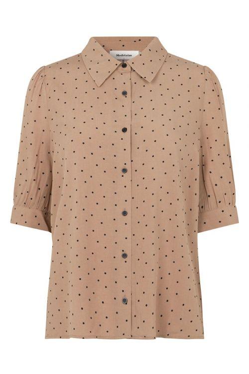 Modström - Skjorte - Talle Print Shirt - Camel Polka